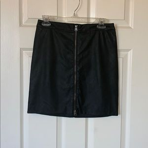 Abercrombie Faux Leather Zip Front Mini Skirt